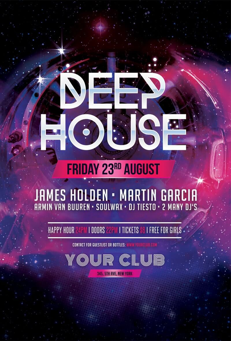 free deep house flyer template inspirationfeed