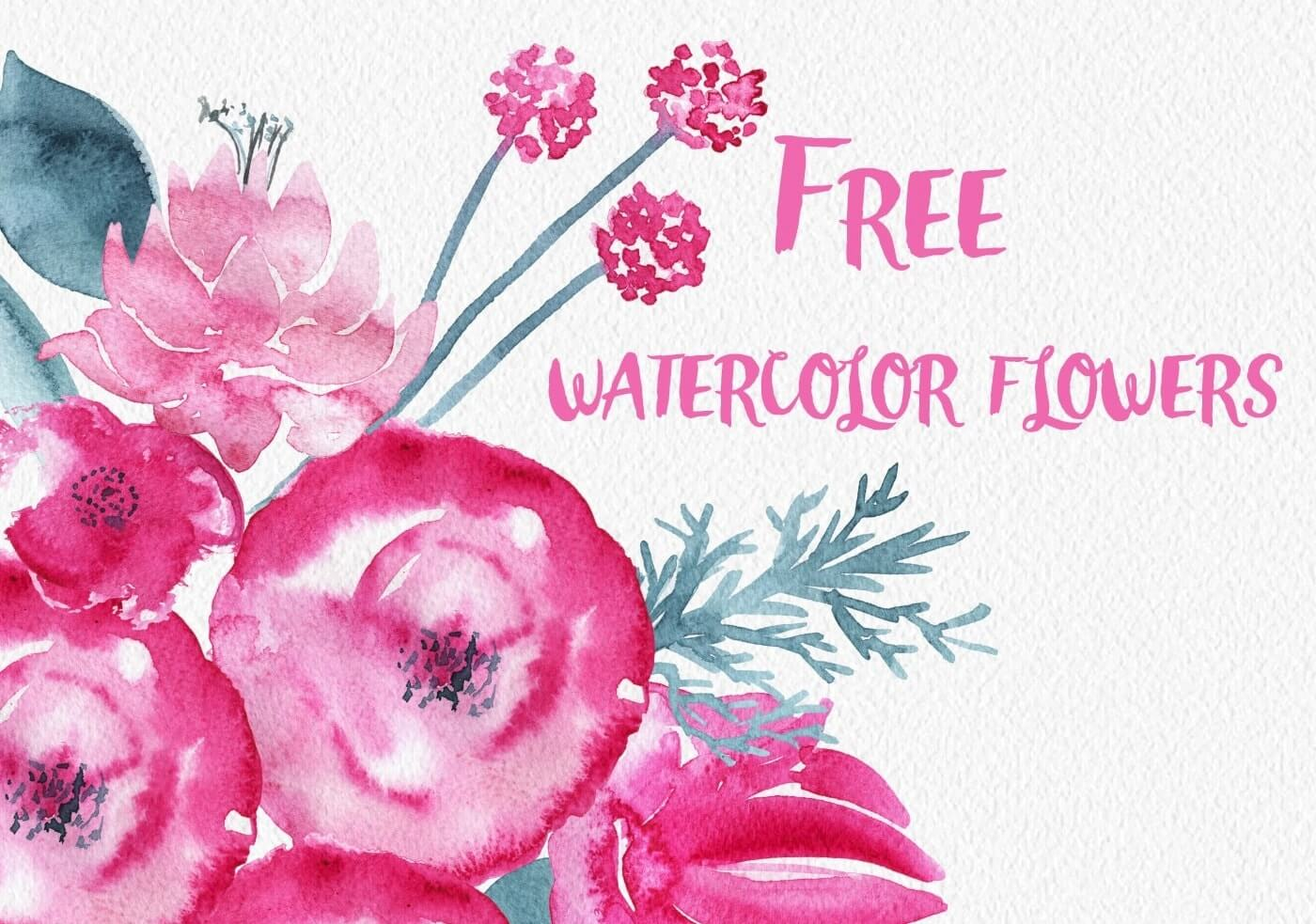 Free Watercolor Flower Set | inspirationfeed.com