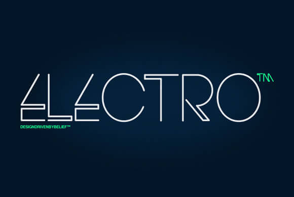 lectro Typeface by Thinkdust