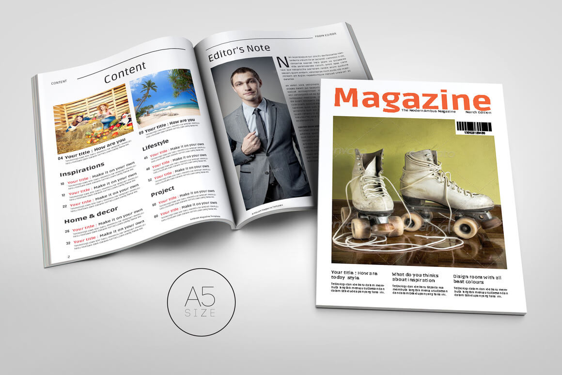 20 premium magazine templates for professionals for E magazine templates free download