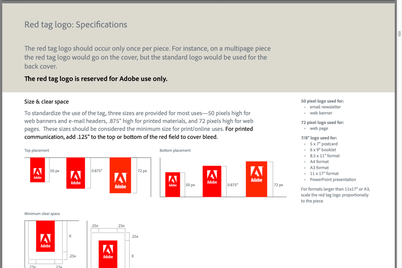 Adobe Brand Guidelines