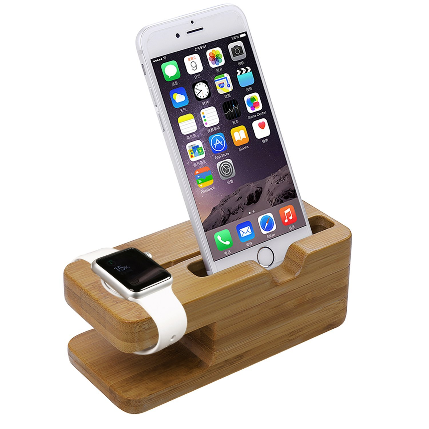 Aerb Bamboo Wood Charging Stand