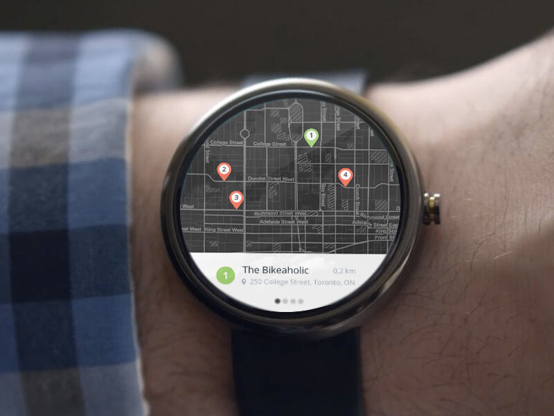 Android Wear Map Results by Greg Moore