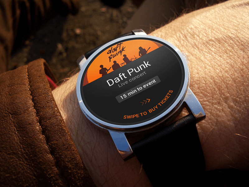 Android Wear concept by Stefan Hiienurm