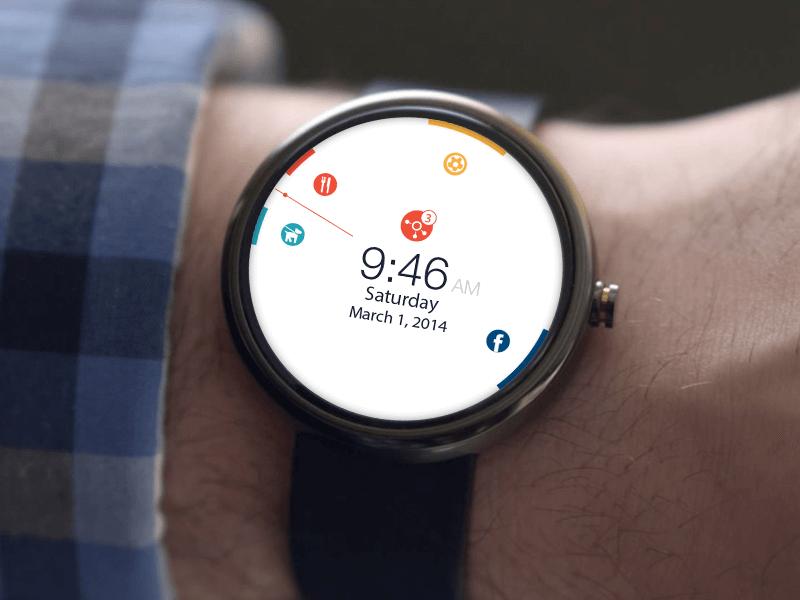 Calendar App - Android wear by Vasil Enchev