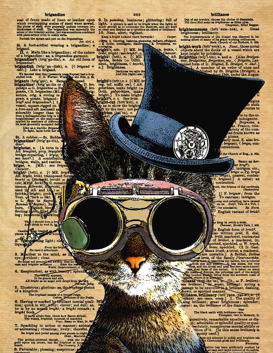 Clockwork Kitty Steampunk Cat