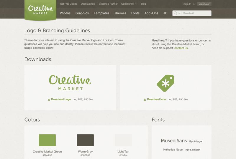 Creative Market Brand Guidelines