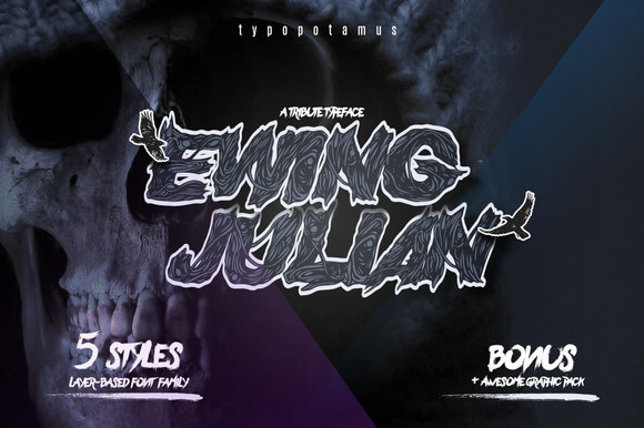 Ewing Julian - Layered Typeface