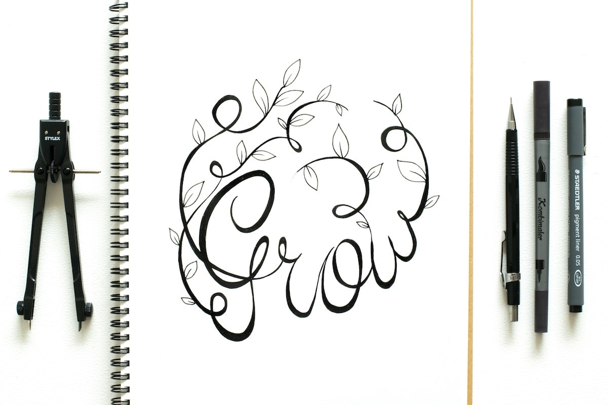Grow Beautiful Hand Lettering
