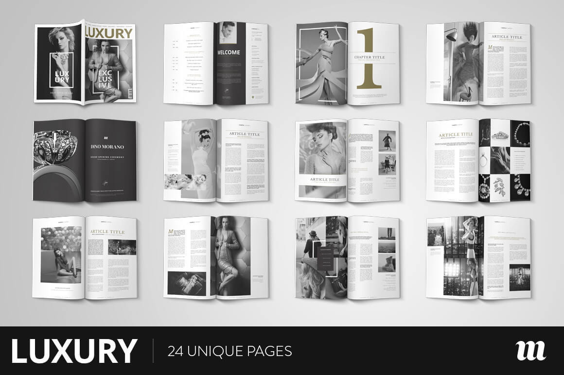 Luxury Magazine InDesign Template