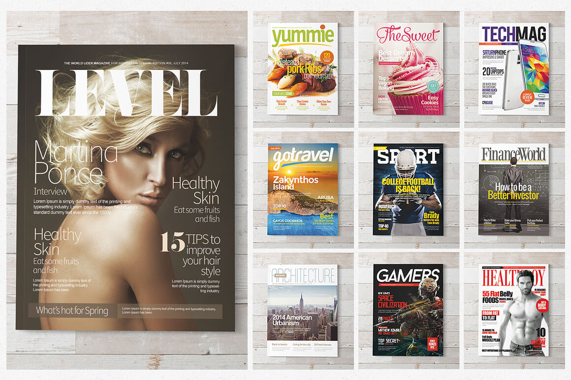 Magazine Covers Templates