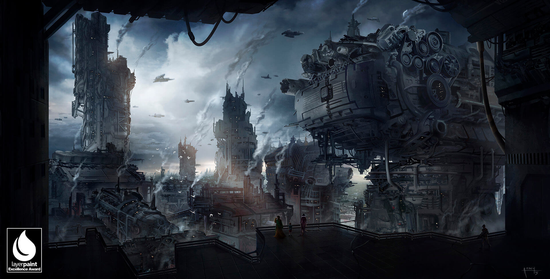 Once upon a time in the Steampunk City by Ricardo Echeverry