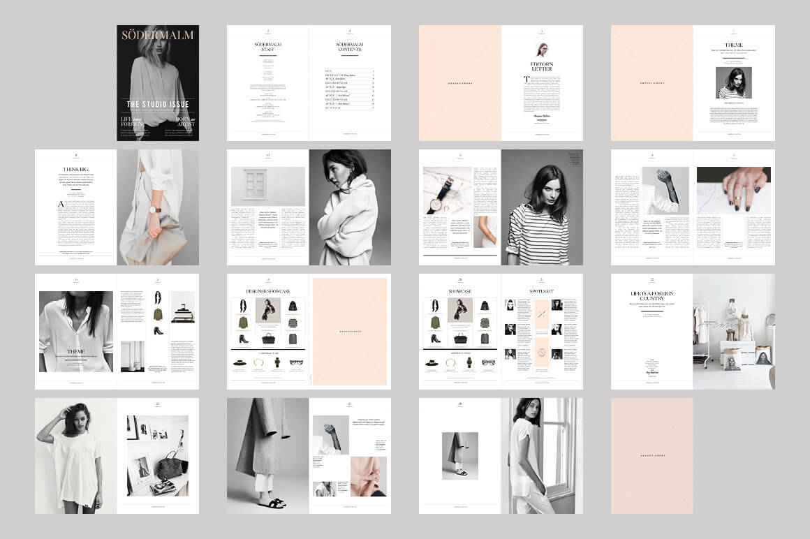 20 premium magazine templates for professionals for Layout book design inspiration