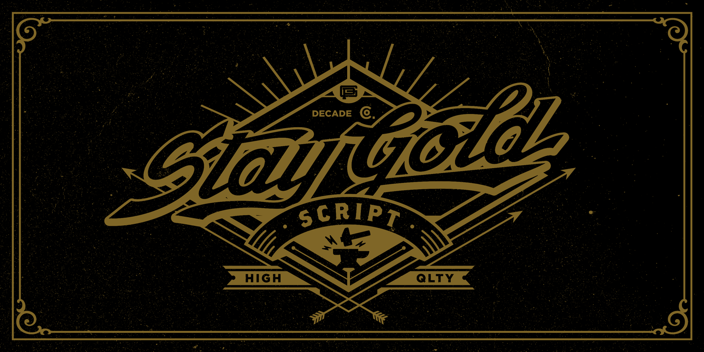 Stay Gold by Decade Typefoundry