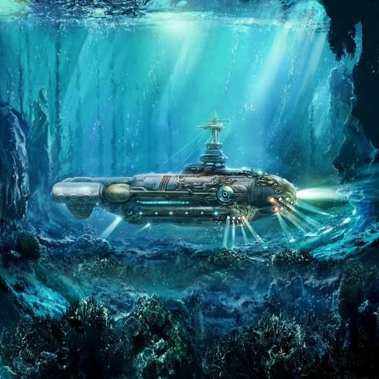 Steampunk Submarine by FantasyArtDesigns