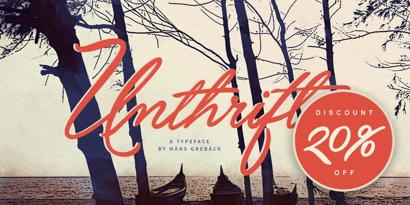 Unthrift by Aring Typeface
