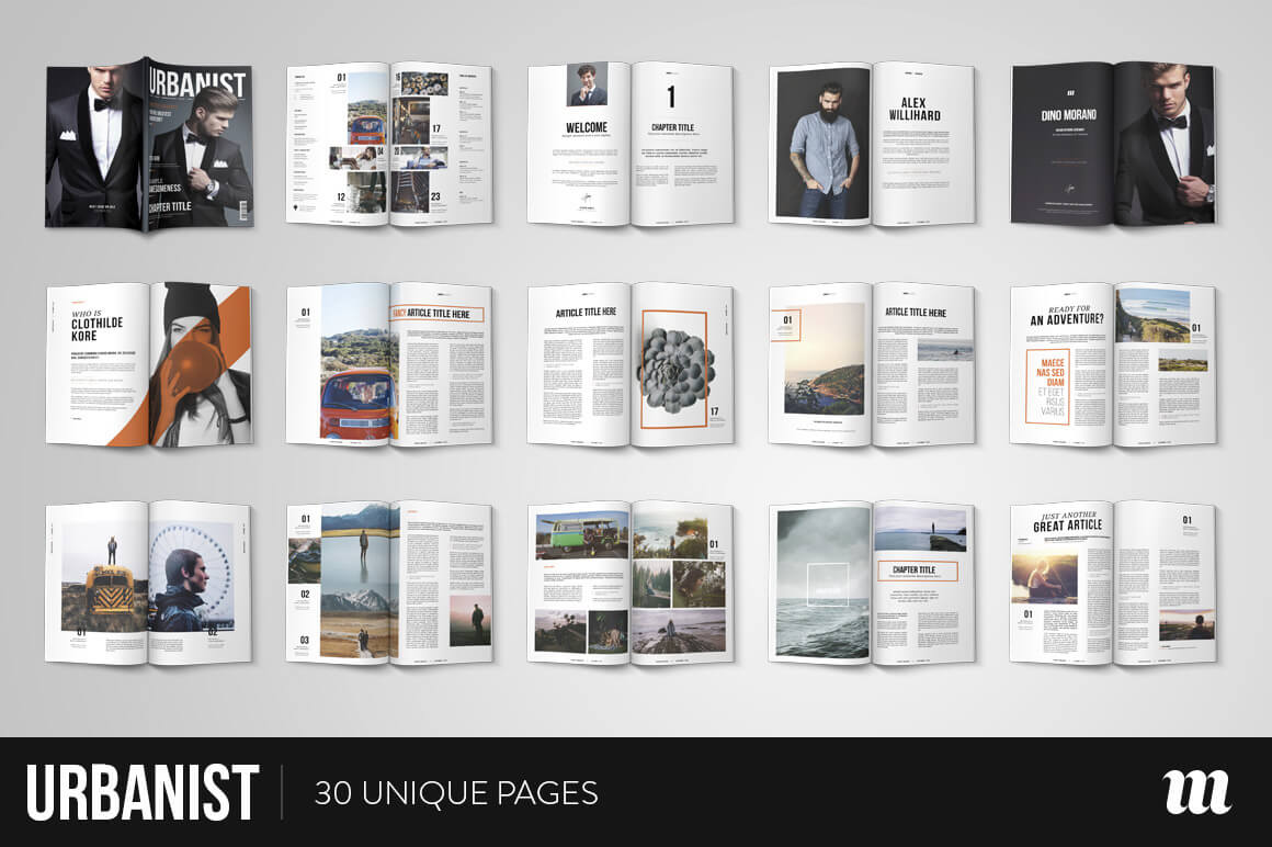 20 premium magazine templates for professionals for Magazine layout templates free download