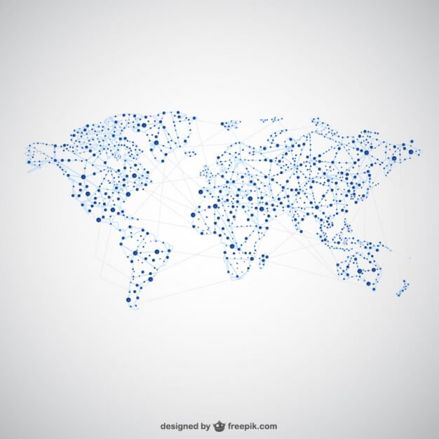 Global Network World Map