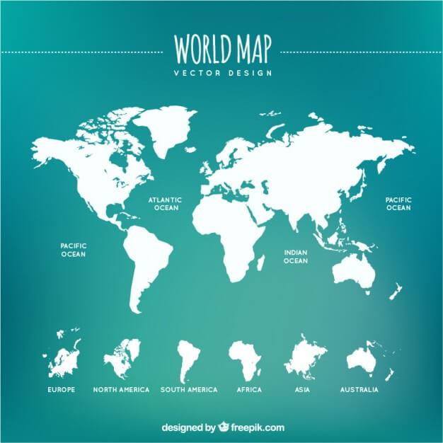 White world map