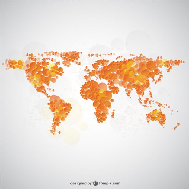 World map bubble design