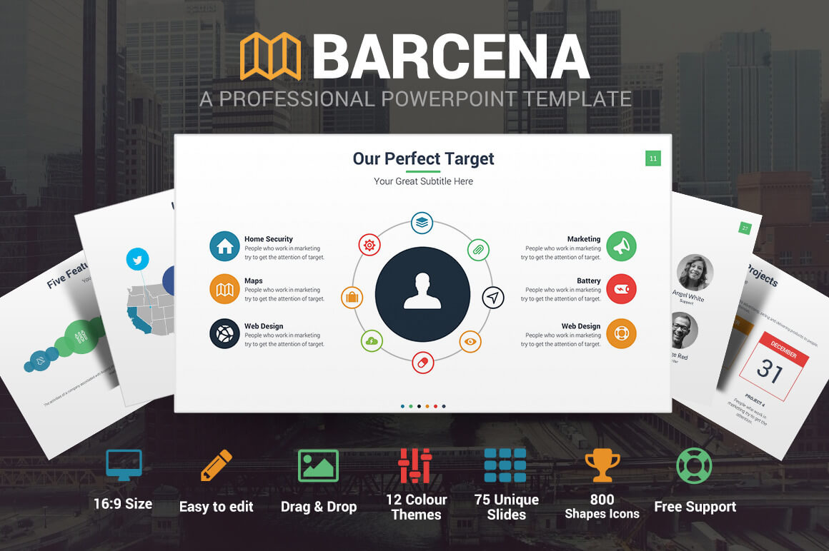 Barcena Powerpoint Template