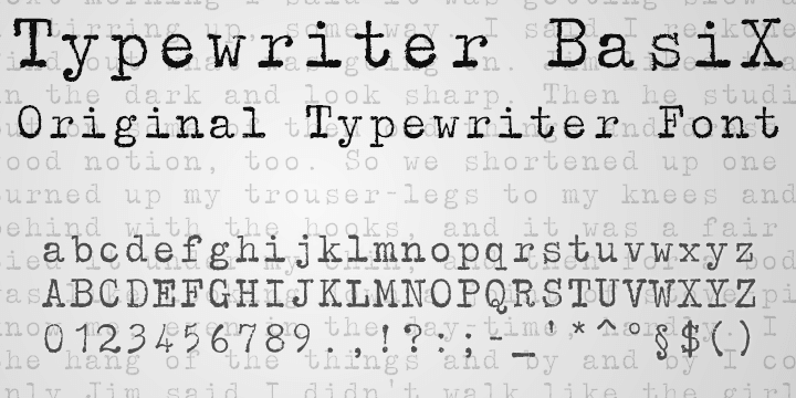 20 Exceptional Typewriter Fonts | Inspirationfeed