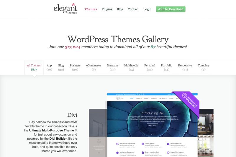 WordPress Themes Gallery | Elegant Themes