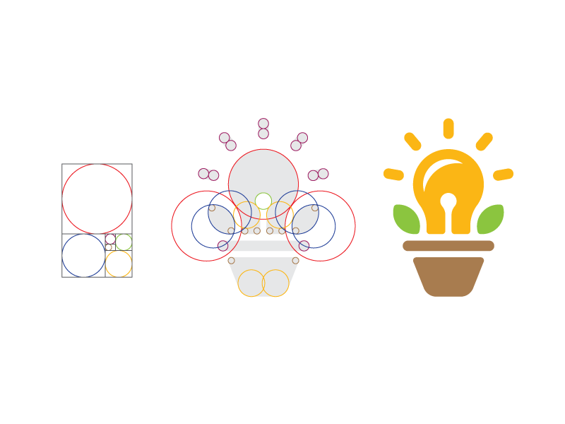 Golden Ratio Grow Your Ideas Logo Design by Paulius Kairevicius