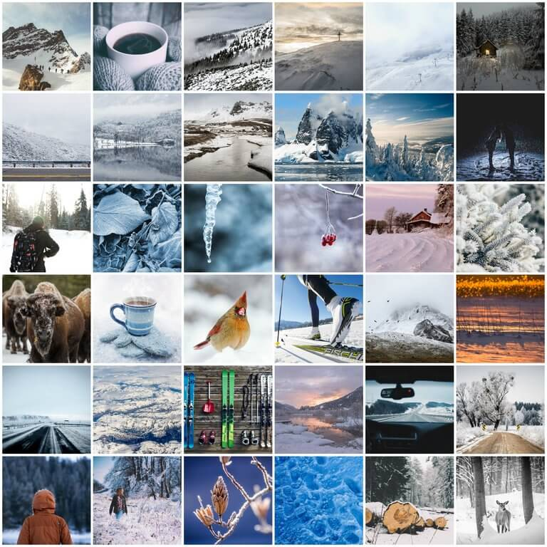 Winter Photo Pack Grid 1 Preview