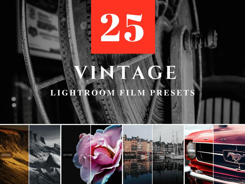 25 Free Vintage Film Presets