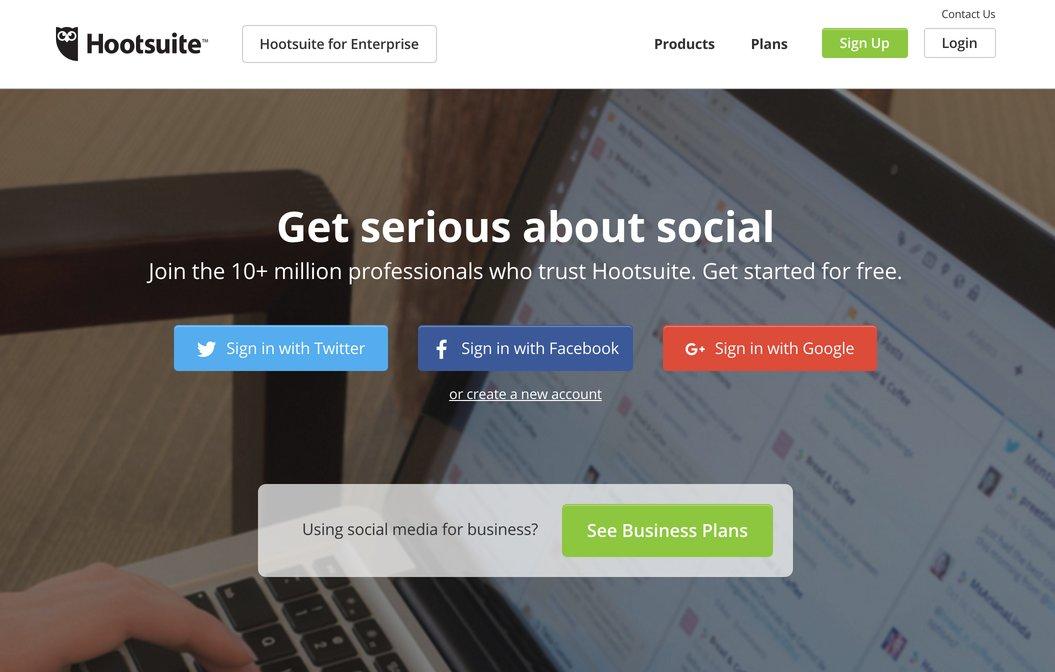 Hootsuite Website Screenshot