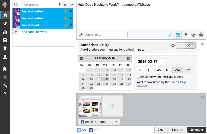How to Schedule a Post with Hootsuite