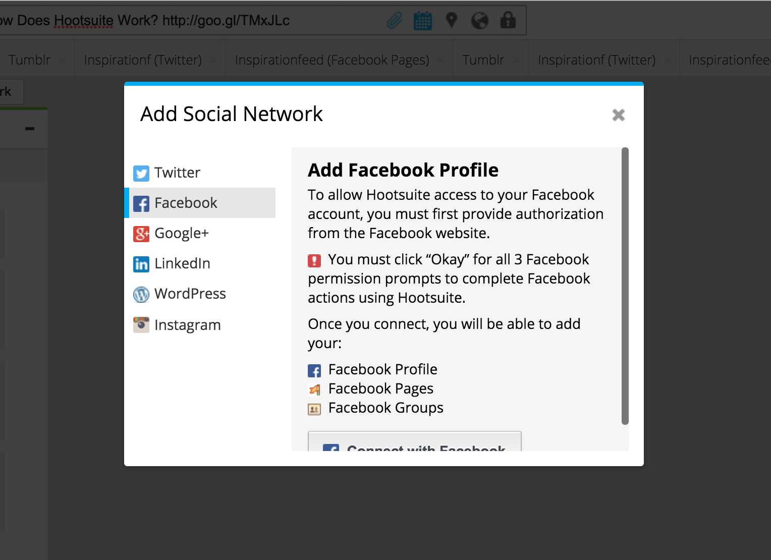 Schedule to Facebook Groups on Hootsuite