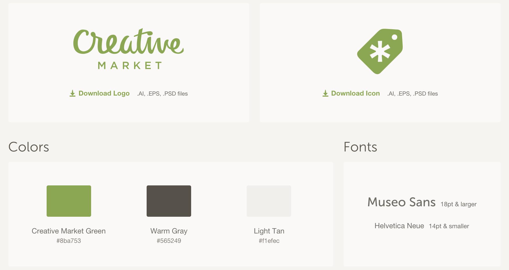 Creativemarket Logo & Branding Guidelines