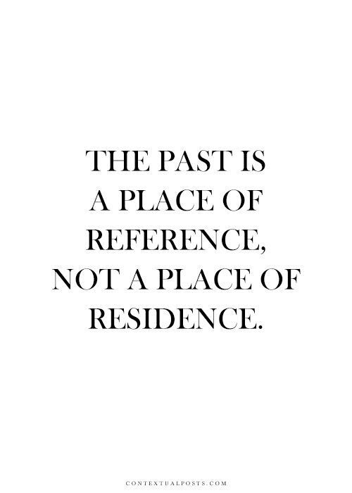 the pas is a place of reference not a place of residence
