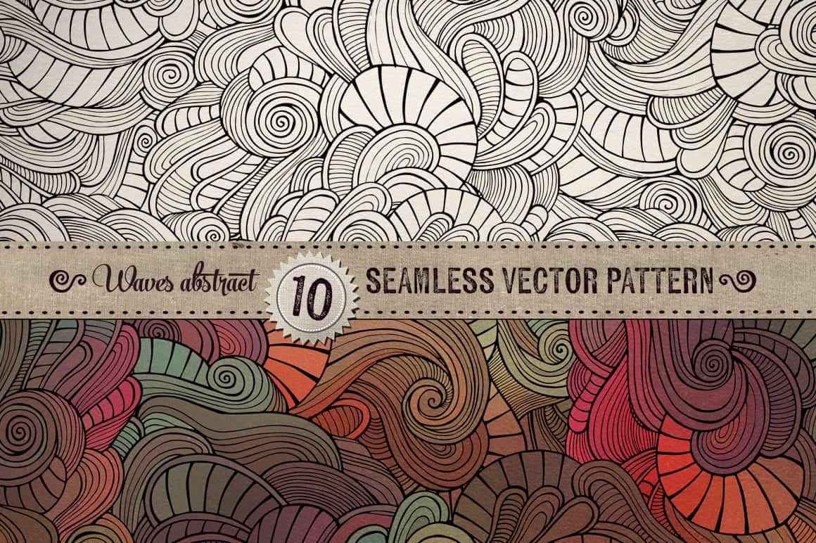 10 Waves Seamless Patterns