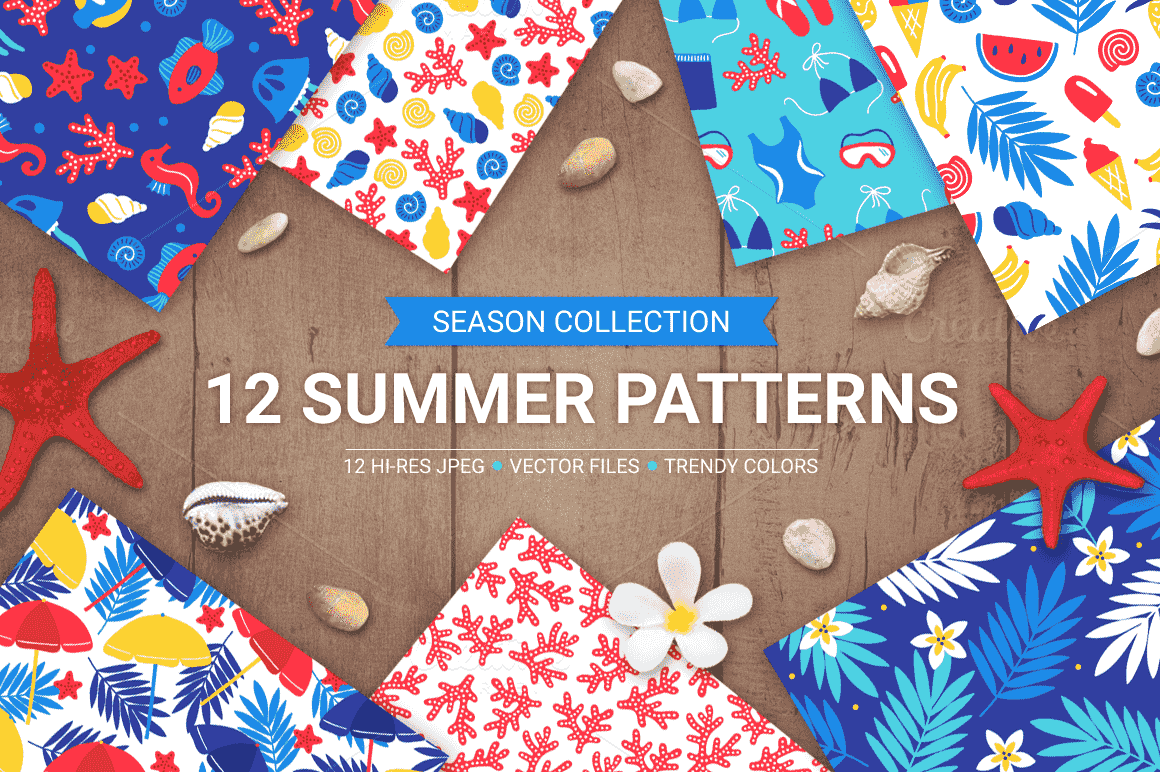 12 Summer Seamless Patterns-min