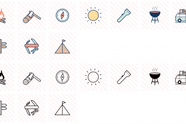 Camping Icons Preview