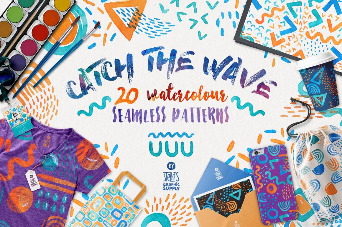 Catch the Wave, Seamless Patterns (1)-min
