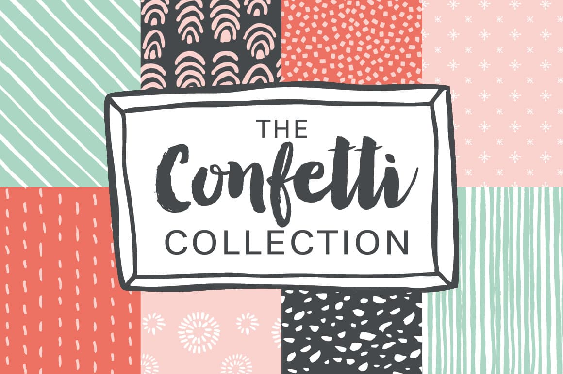 Confetti Hand Drawn Patterns