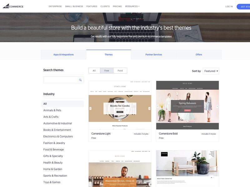 Leave a lasting impression of your brand. Choose from our suite of themes to build a fast, intuitive store that is sure to engage and convert your shoppers.