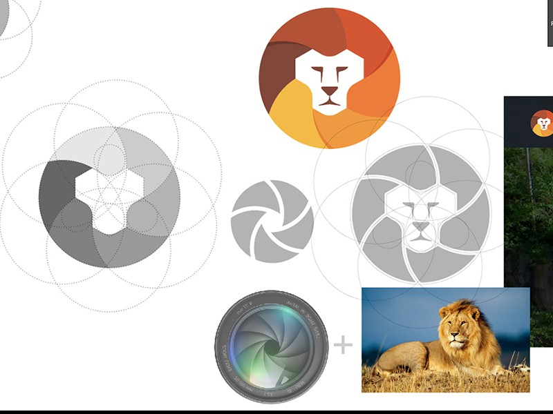 Logo Concept Lenses + Lion by Yoga Perdana (1)