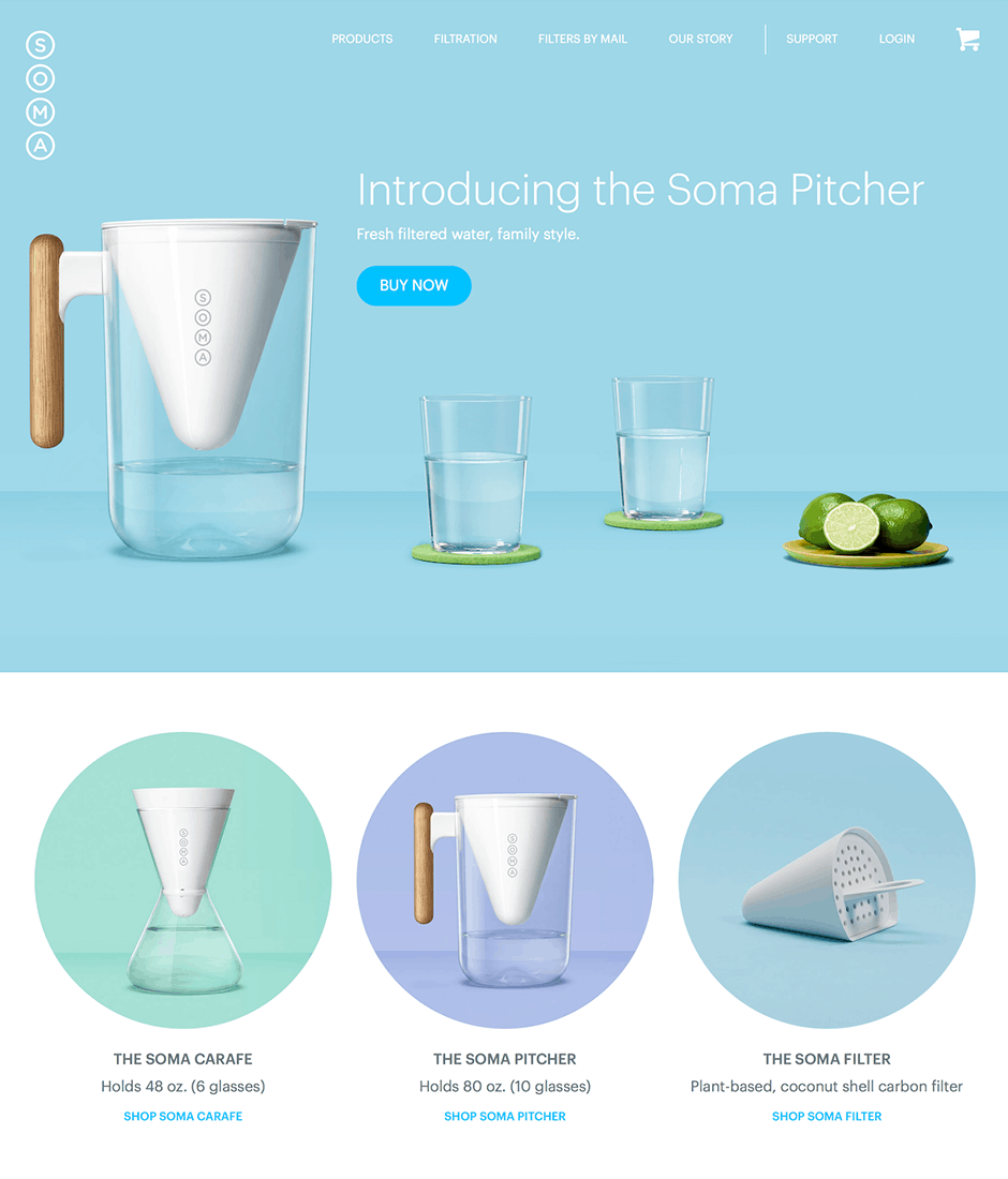 Soma Product Landing Page