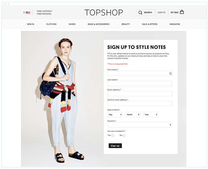 Survey by TopShop to procure Demographic Data - 4