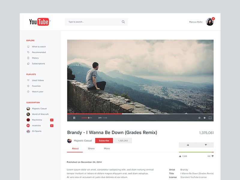 YouTube Redesign (1)