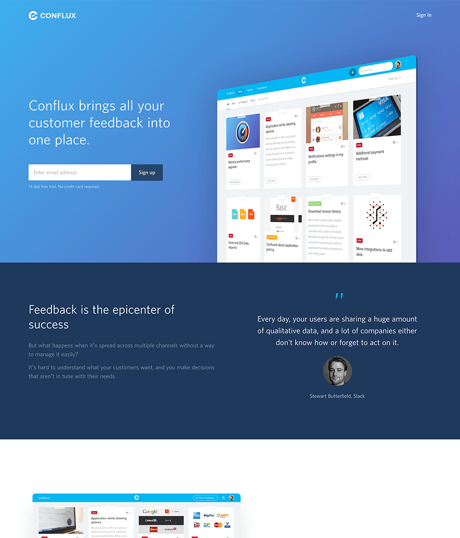 Conflux Product Landing Page
