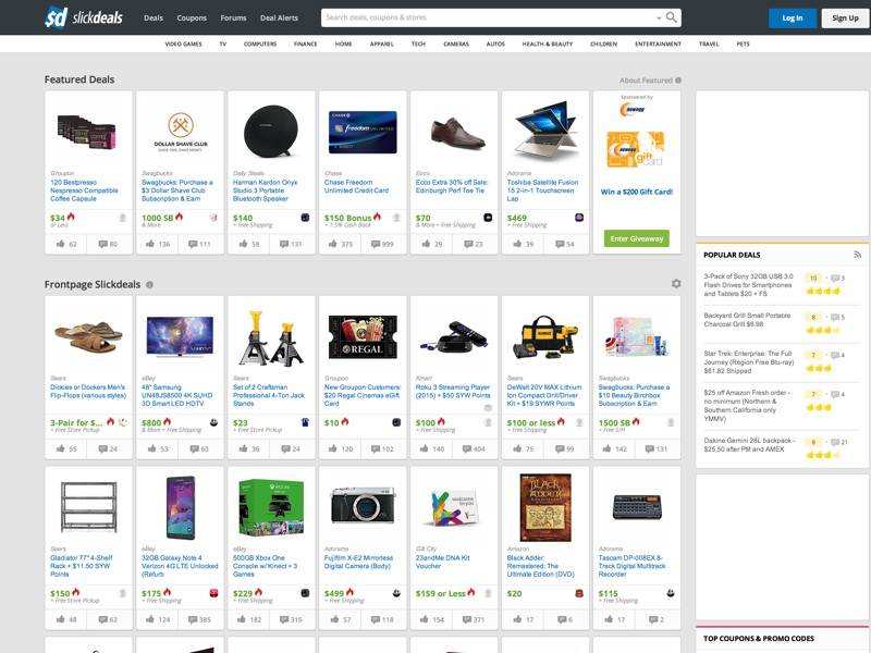 Your search for great deals and coupon savings ends here. Find the best bargains and money-saving offers, discounts, promo codes, freebies and price comparisons from the trusted Slickdeals community.