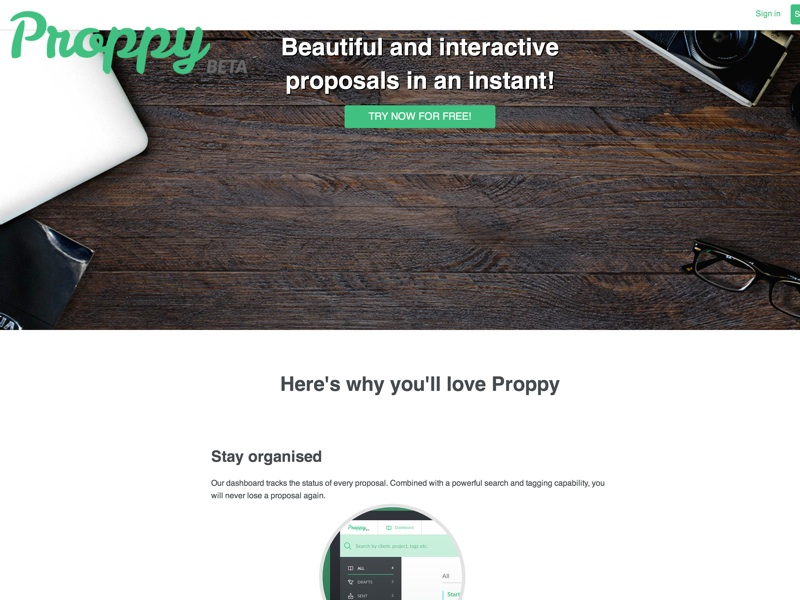 Proppy - Write beautiful and interactive proposals in no time at all