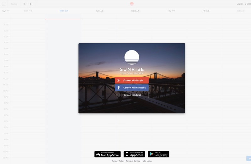 Sunrise is a free, fast and beautifully designed application to make your life easier.