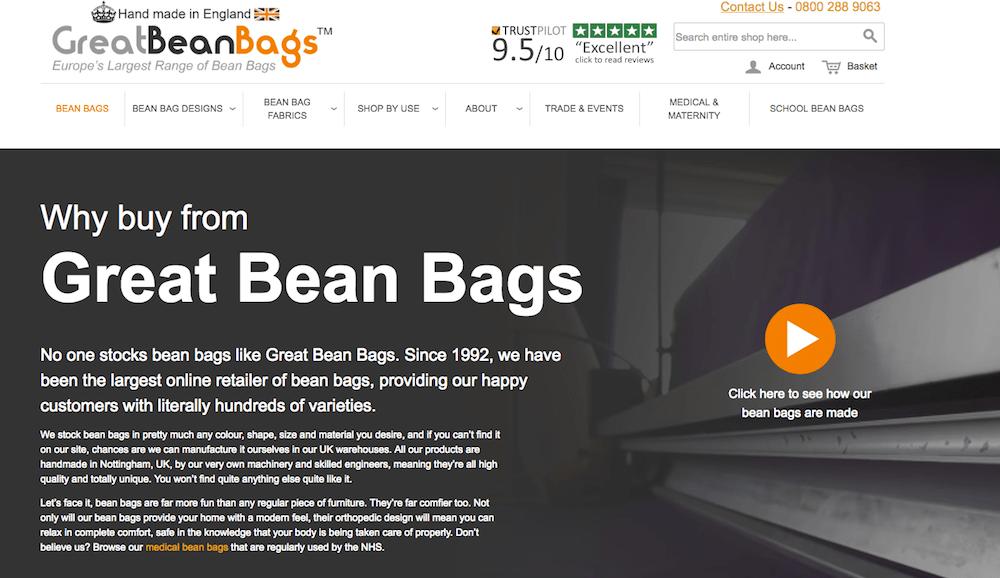 bean-bag-landing-page